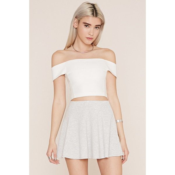 Forever 21 Women's  Mini Skater Skirt ($13) ❤ liked on Polyvore featuring skirts, mini skirts, forever 21, flared skirt, forever 21 mini skirt, mini circle skirt and full length skirt