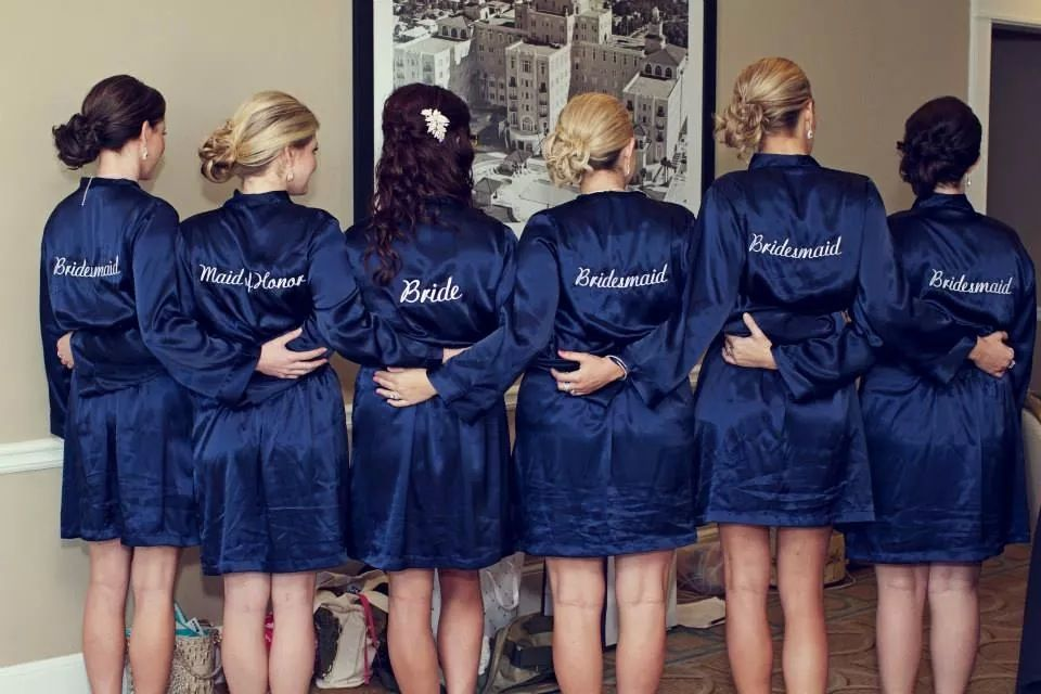 Personalized Cotton Waffle Weave Robe – Bridesmaids ...