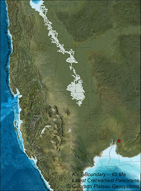 Map of north america 65 million years ago showing one known map of north america 65 million years ago showing one known location of an extinct sciox Gallery