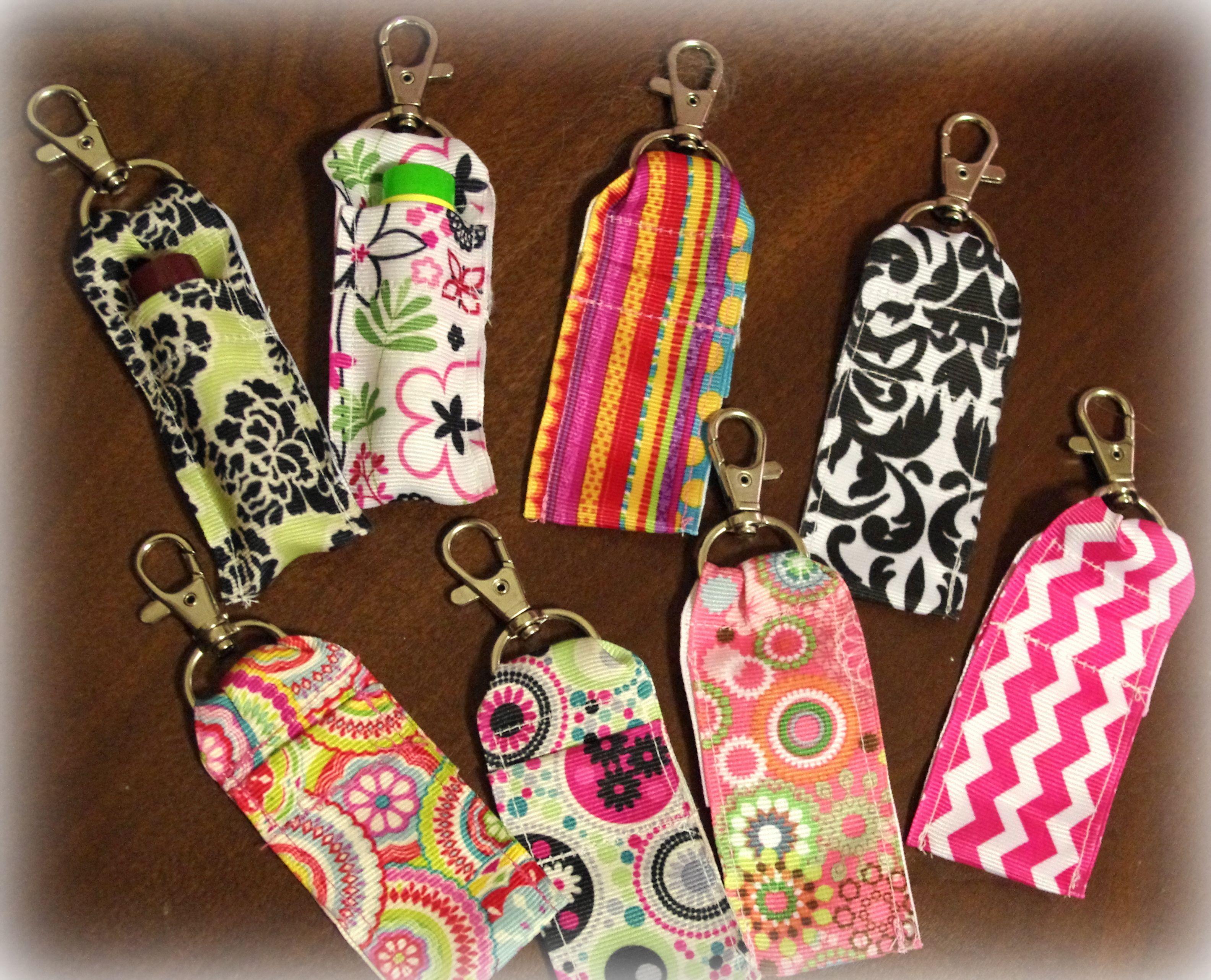 Diy Clip On Ribbon Lip Balm Holder Chapstick Holder Lip Balm Holder Sewing Projects For Beginners