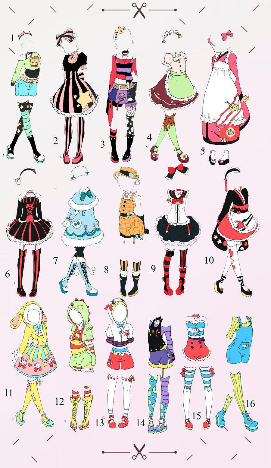 Cute Outfit batch 1 OPEN (2/16) by Toki-Doki-Adoptables ...