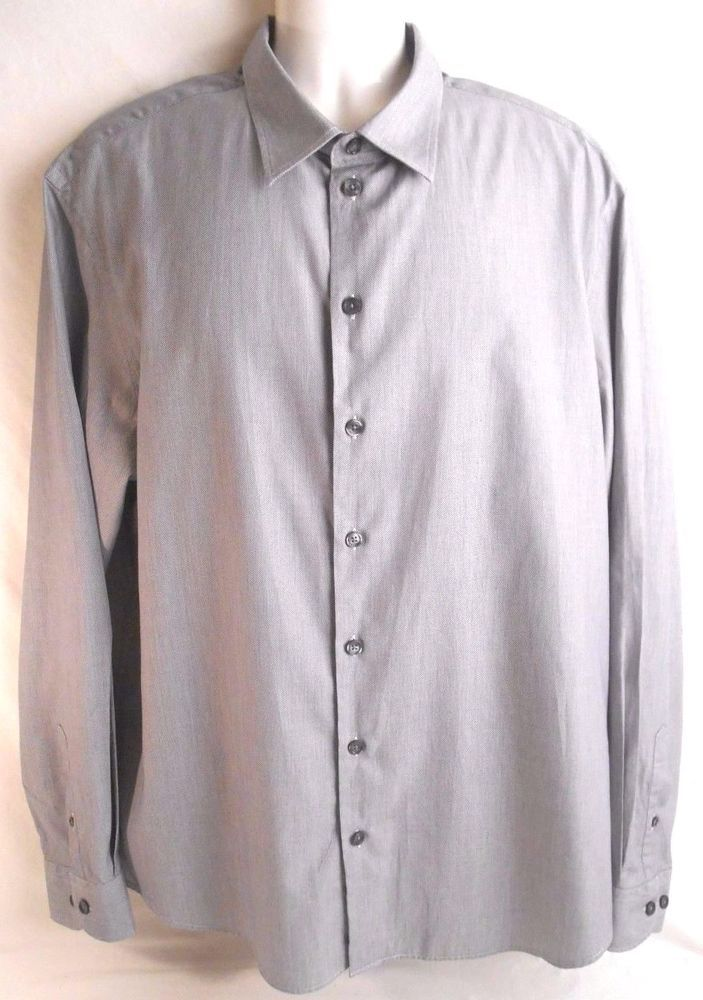ARMANI COLLEZIONI Mens Shirt Size XXL Long Sleeve Cotton #ArmaniCollezioni #shirt #mensshirt