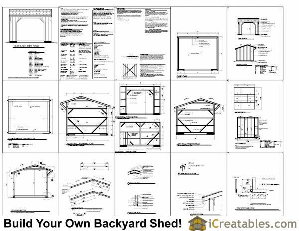 12x12 Run In Shed Plans Amish Horse Barn Plans Horse Run In Shed Plans In 2020 Run In Shed Shed Plans Shed Floor Plans