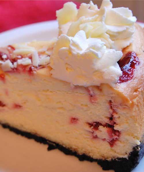 Recipe for Copycat Cheesecake Factory White Chocolate Raspberry Truffle Cheesecake