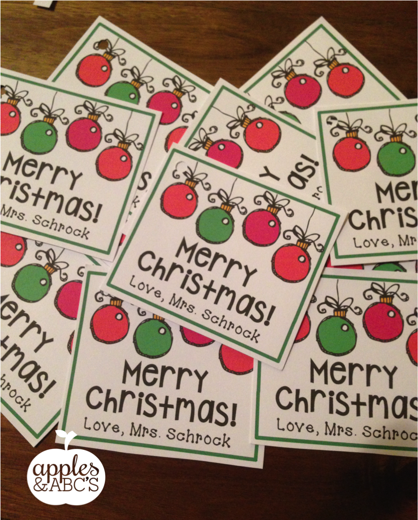 Christmas Gift For College Student: Christmas Tag Freebie (Freebielicious)