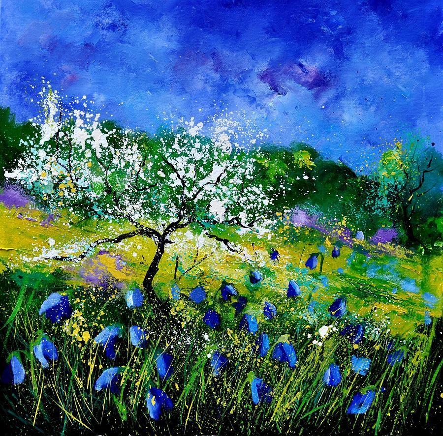 Landscape Painting - Appletree 7741 by Pol Ledent