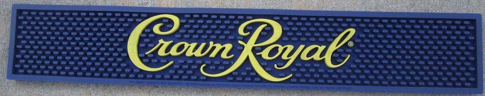 Details About Crown Royal Rubber Bar Spill Mat Rail Drain