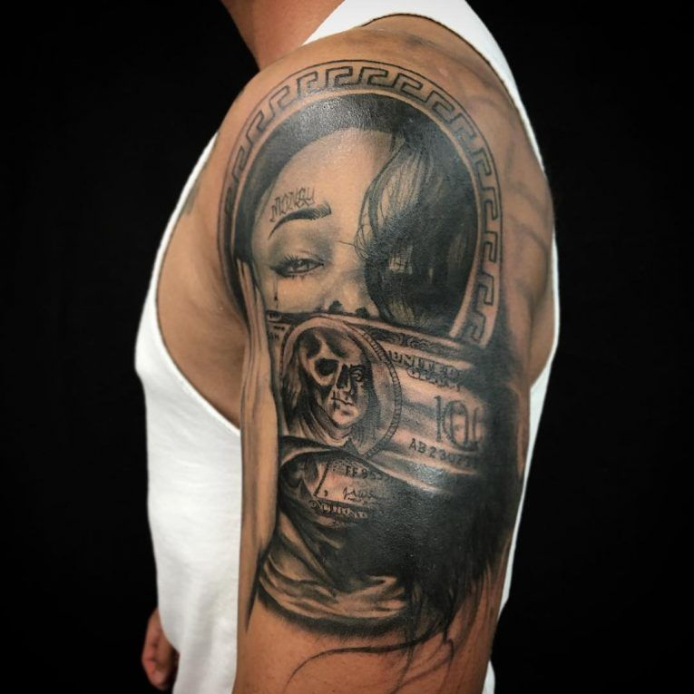 b7633be4196be 75+ Best Money Tattoo Designs & Meanings - Get It All (2019)   Money ...