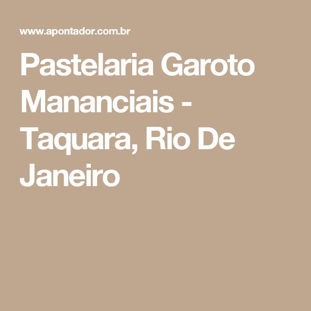 Pastelaria Garoto Mananciais - Taquara, Rio De Janeiro
