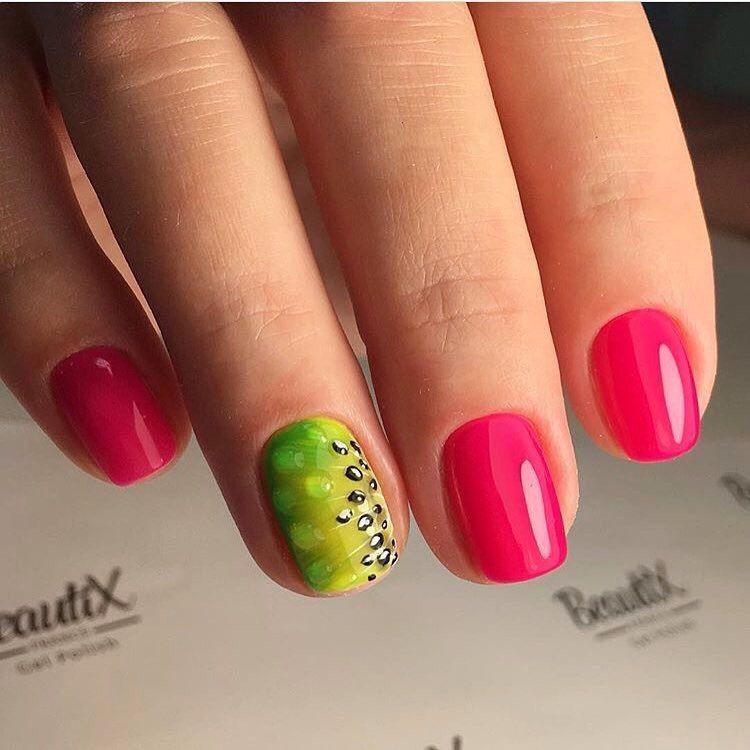 Nail Art #2202 - Best Nail Art Designs Gallery | Short nails, Pink ...