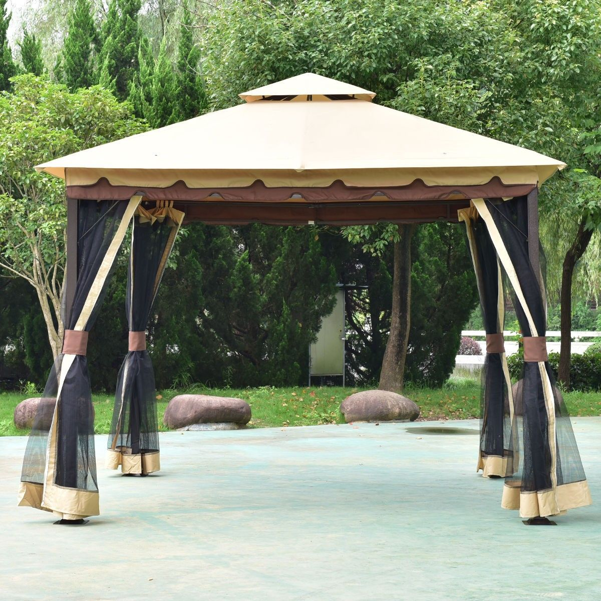 2 Tier 10 X 10 Patio Shelter Awning Steel Gazebo Canopy Steel Gazebo Gazebo Canopy Gazebo