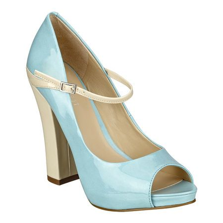 """As seen in the pages of Marie Claire, Seventeen & Lucky magazines.....peep toe Mary Jane pump with 4 1/2"""" heel & 1/2"""" platform."""