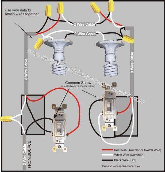 3 Way Switch Wiring Diagram | Shop | 3 way switch wiring, Electrical wiring, Home electrical wiring