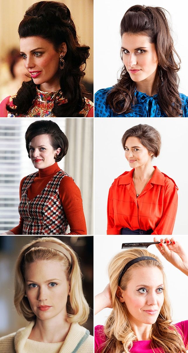 9 Hairstyles Inspired By Tv S Most Stylish Leading Ladies Mad Men Hair Mad Men Makeup Mad Men Fashion