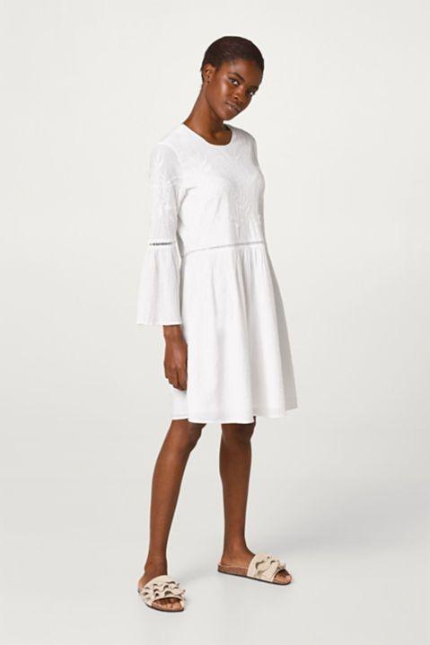 Esprit TunikaKleid mit Stickerei, 100 Baumwolle im