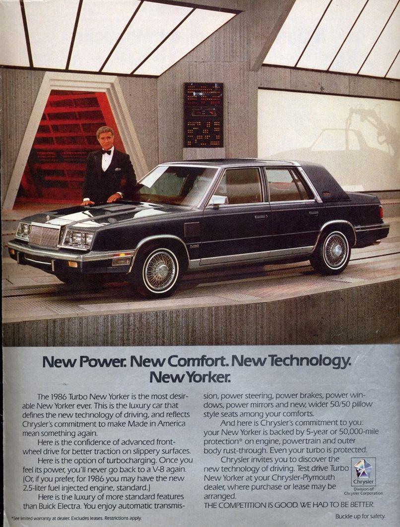 1986 Chrysler New Yorker Turbo Sedan Chrysler New Yorker