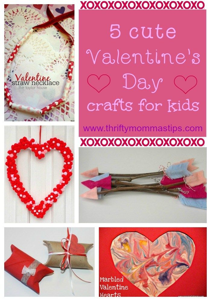 5 Cute Valentine S Crafts For Kids Valentine S Day Crafts