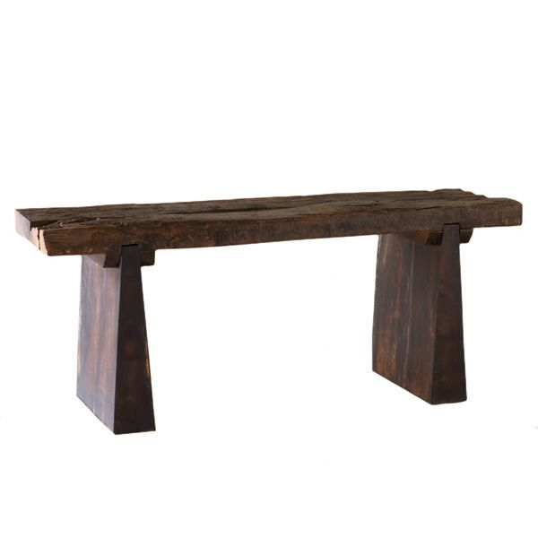 As things become old and lose their usefulness, you can throw them away or you can give them a new life. Rather than contribute to landfills, old wooden railway ties from India become unique furniture and home accessories. The rustic elegance of the Railway Tie Bench is enhanced with a pair of modular legs to create an instant classic of form and function perfect for use indoors or out.