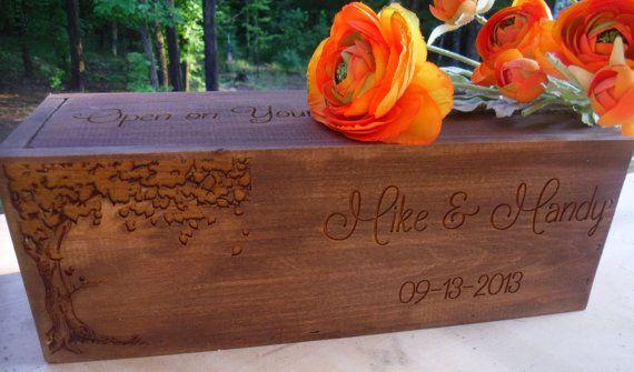 Wedding Wine Box Rustic Wine Box Wine Box Love Letter Box