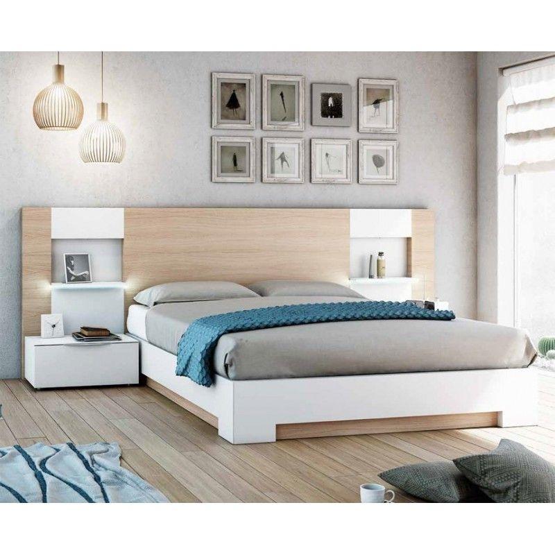 Oferta dormitorios cabecero moderno con estantes muebles - Muebles casal valencia ...