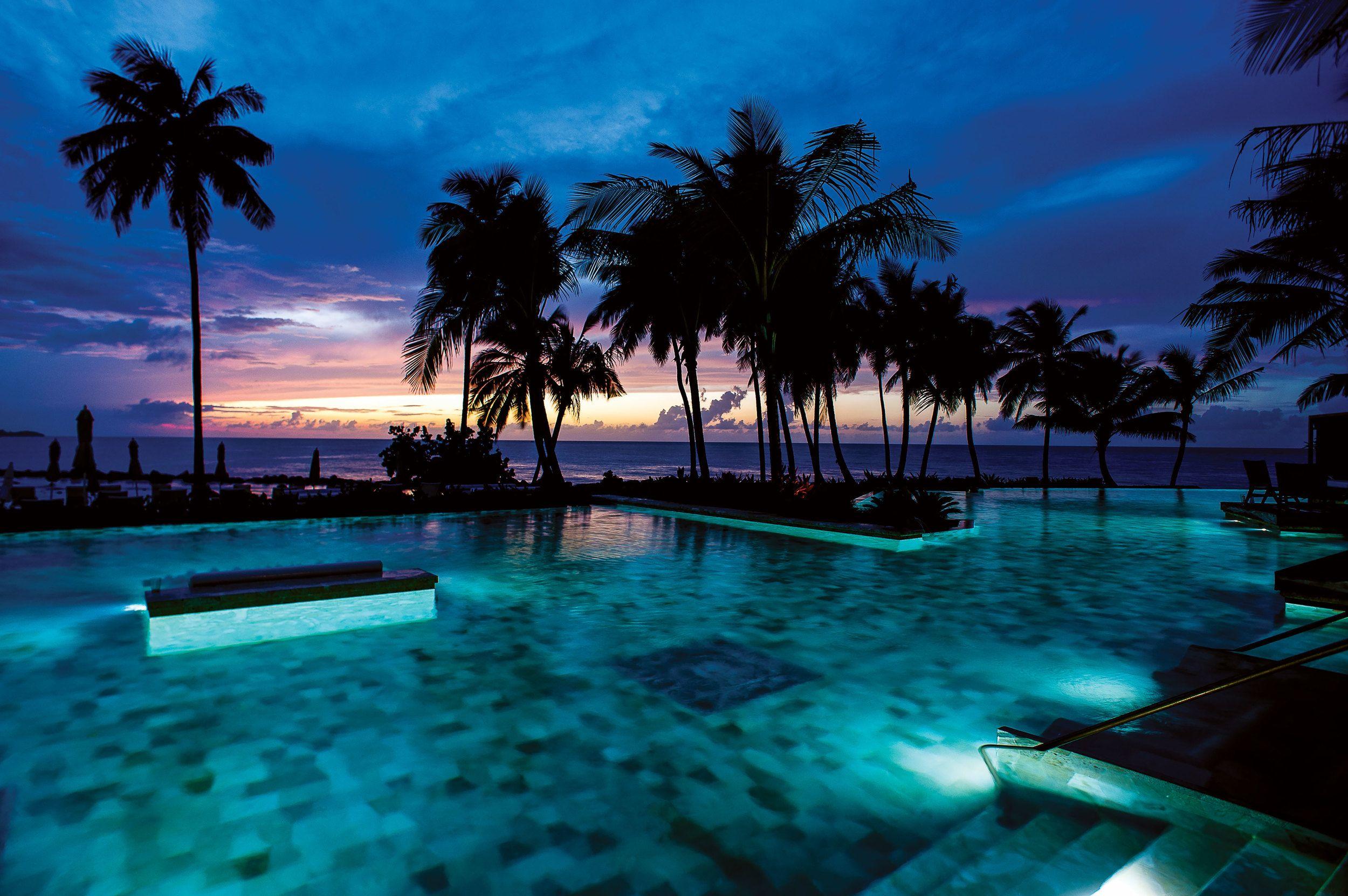 puerto rico night wallpaper desktop background | landscape
