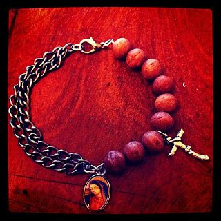 DIY Bracelet with a religious theme.