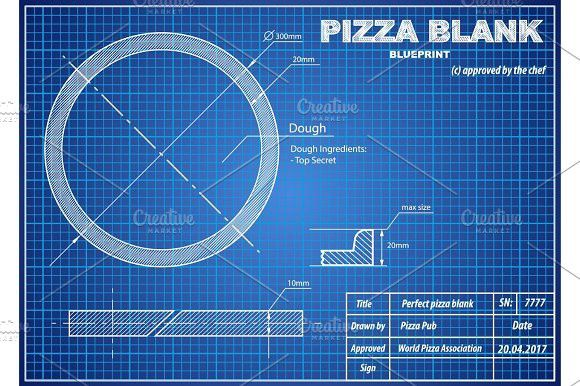 Perfect pizza blank blueprint scheme graphic design infographics perfect pizza blank blueprint scheme graphic design infographics malvernweather Gallery