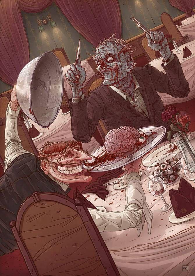Disturbing Illustrations by Michal Dziekan