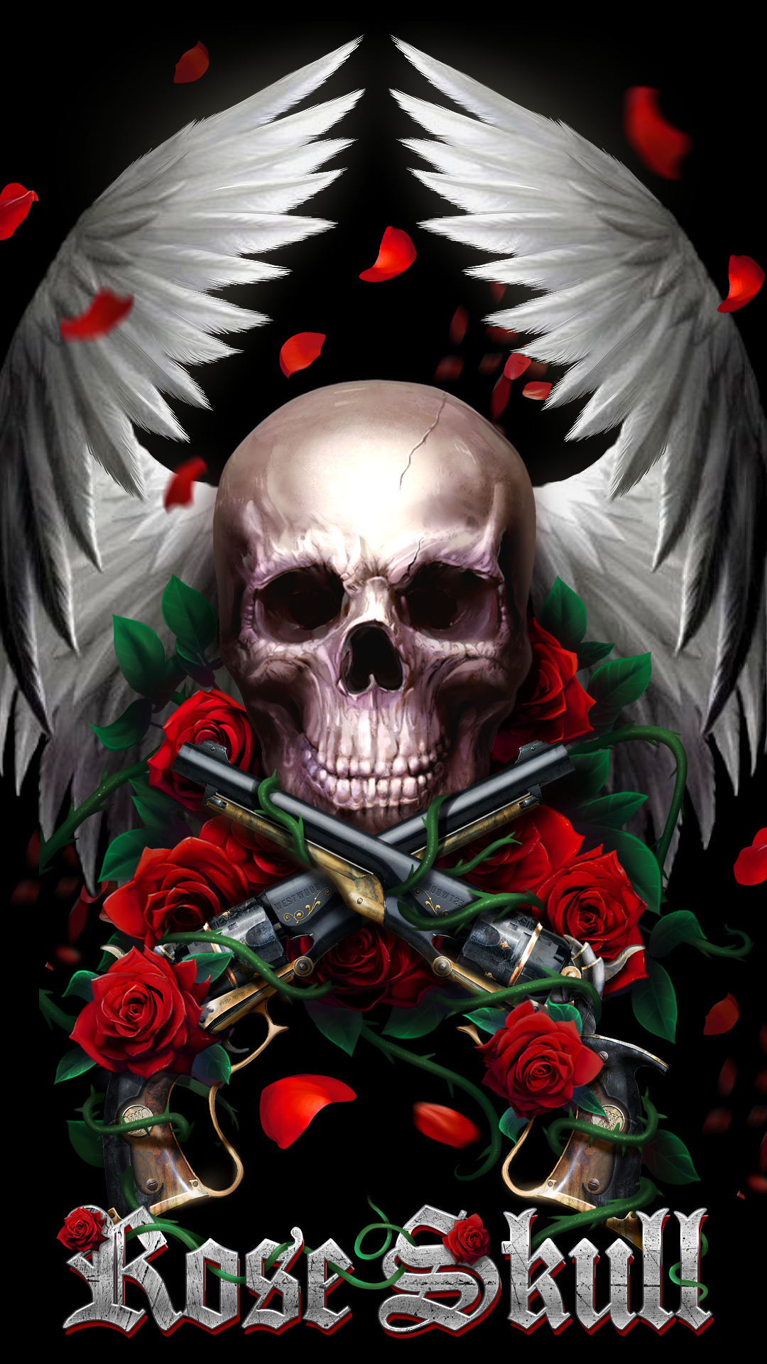 Beautiful rose skull live wallpaper! | Android live wallpapers from Ahatheme in 2019 | Skull art ...