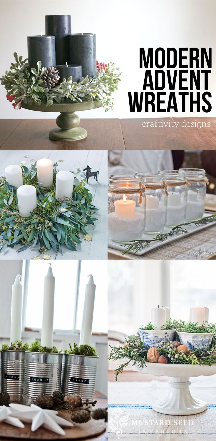 17 Modern Advent Wreath Ideas that are Beautiful and