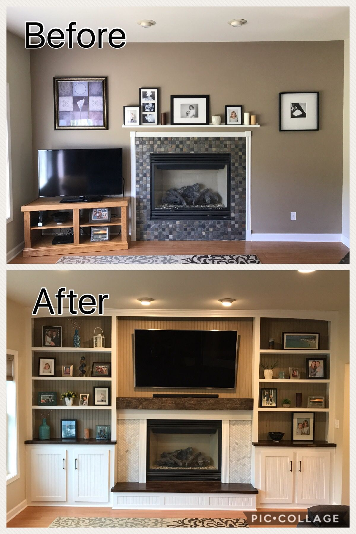 Creating Built Ins Around A Fireplace Built In Around Fireplace Room Remodeling Fireplace Remodel