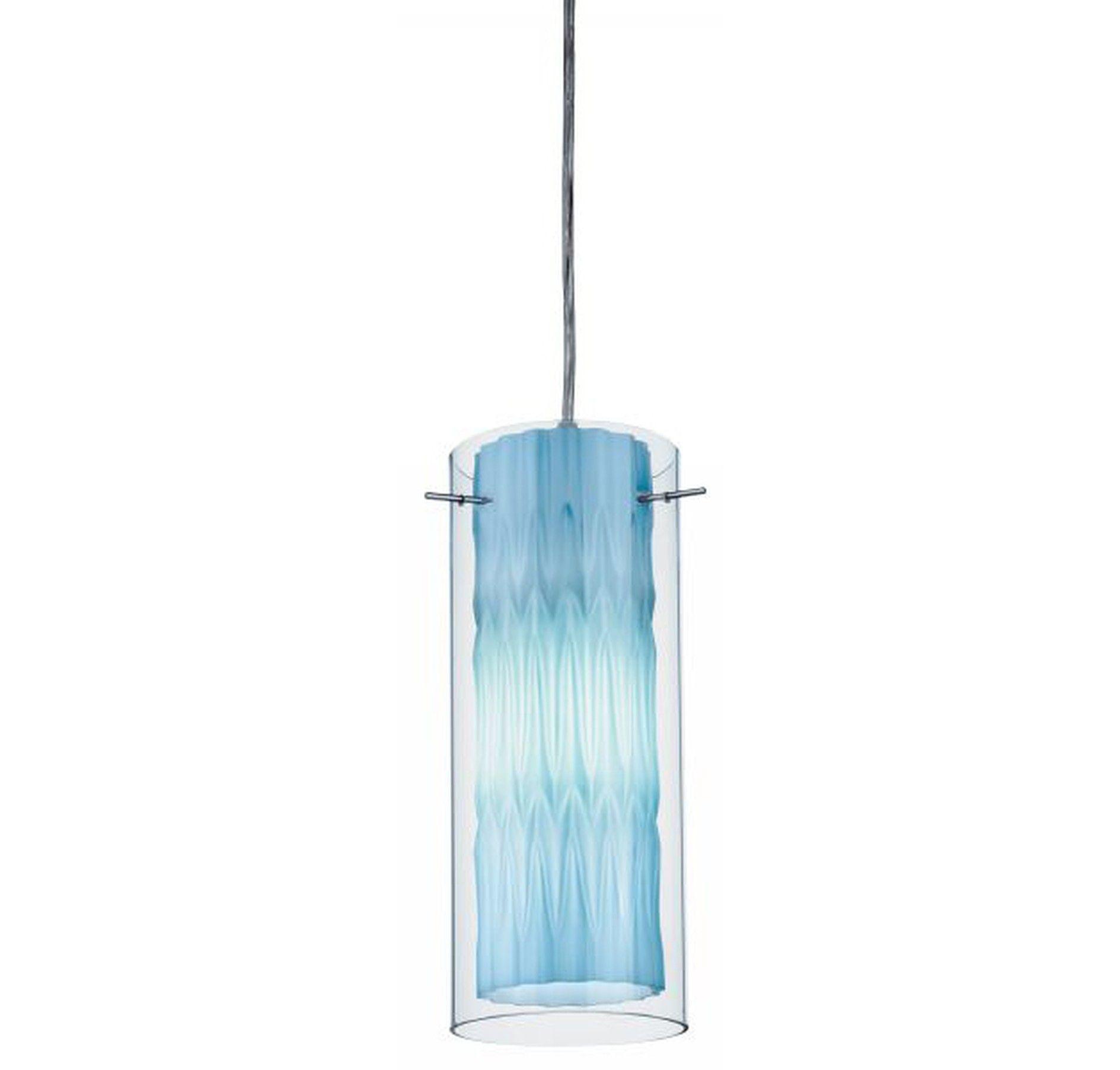Blue pendant shade blue color hand blown glass pendant lights lithonia lighting zentro azure blue glass mini pendant in ceiling aloadofball Images