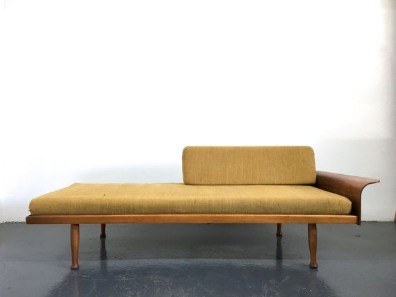 Vintage Mid Century Danish Modern Bentwood Arm Daybed Sofa 1960 S Frank Son