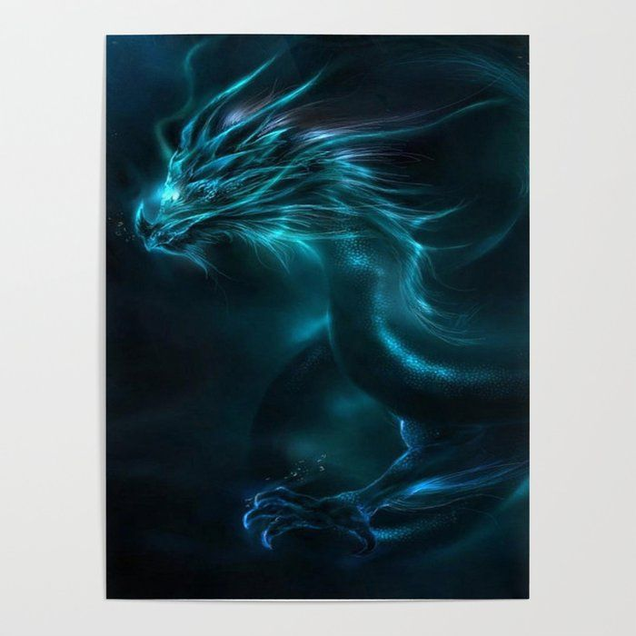 Blue Dragon Art Poster by Imagenaction - 18