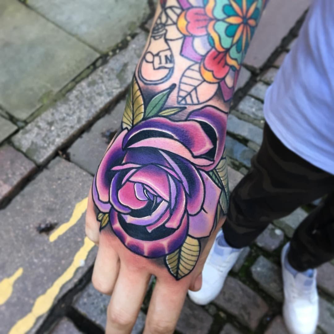 229be9d3c7021 Rose & coloured mandala | Beautiful tattoos ; ) and Desserts ...