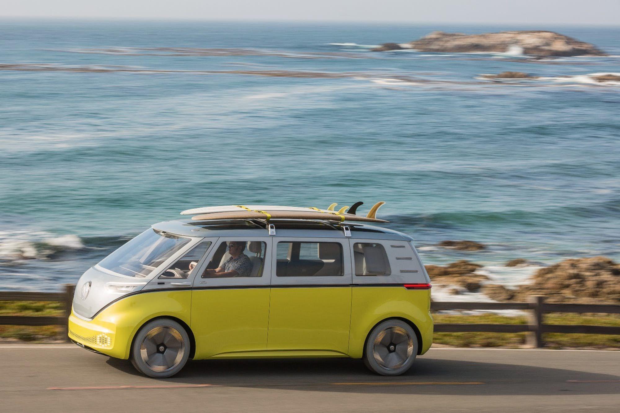 Volkswagen's I.D. Buzz autonomous electric Kombi van gets