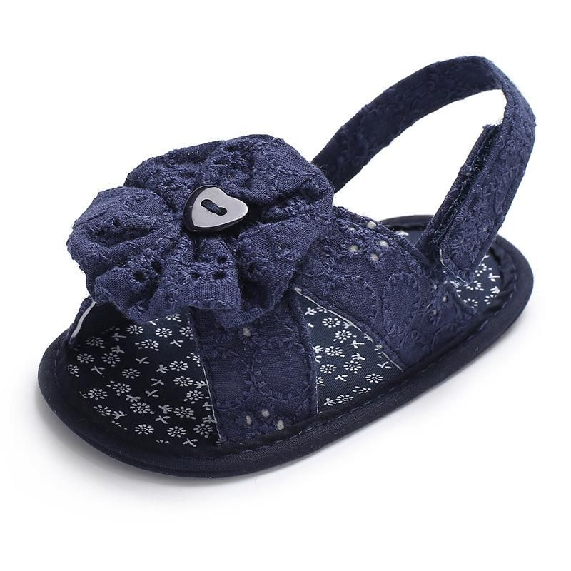15393de112 Raise Young Summer Baby Girl Sandals Cotton Fashion Flower Newborn Girl  Shoes Infant Crib Shoes 0