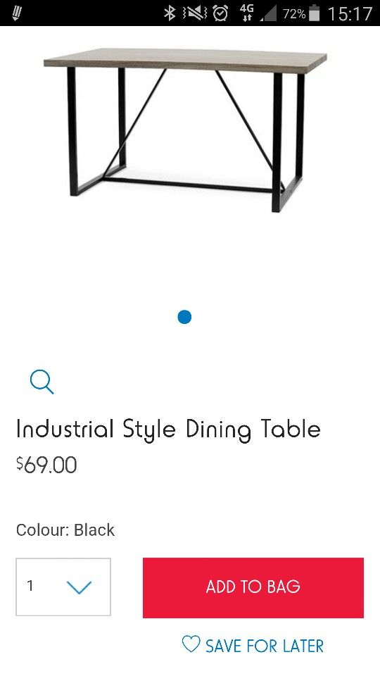 Kmart industrial dining table in 2019 | Industrial style ...