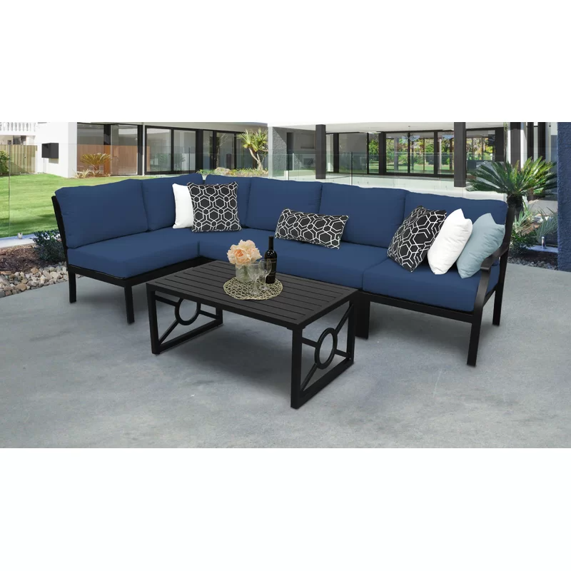 Madison Ave. 6 Piece Sectional Seating Group with Cushions
