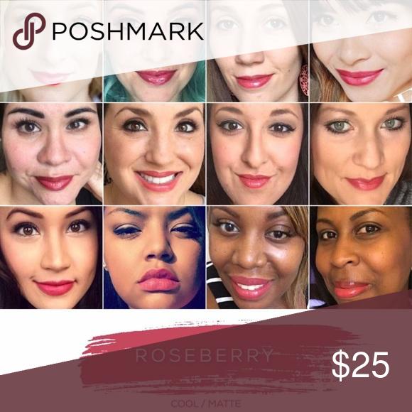 Roseberry Lipsense Cool/matte, muted, true pink lipsense color. Lipsense Makeup Lipstick