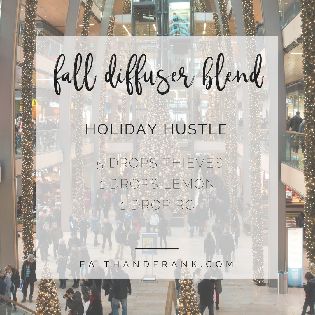 Faith + Frank by Mona Moore | faithandfrank.com FALL DIFFUSER BLEND: FALL HOLIDAY HUSTLE. I'm so ready for cooler weather now seems like the perfect time to share some of my favorite Fall diffuser recipes! Fall is just around the corner, right? Trust me, there is nothing better than when Fall swoops in, the sweaters and pumpkins come out and you have your FALL DIFFUSER combos on hand!!! Click for more blends. #falldiffuserblends #youngliving #essentialoils #fallfavorites #winterdiffuserblends