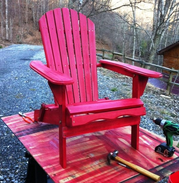painted adirondack chair Painted Furniture Wooden