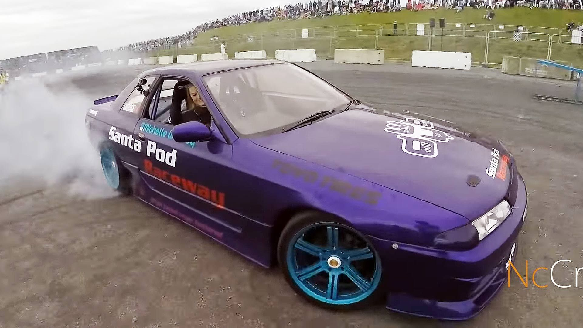 These Girls Love Drifting Drifting is a sitting technique where the driver intentionally oversteers, causing loss of traction in the rear wheels or all tires, while maintaining control from entry to exit of a corner. A car is drifting when the rear slip angle is greater than the front slip angle, to such an extent that often the front wheels are pointing in the opposite direction to the turn (e.g. car is turning left, wheels are pointed right or