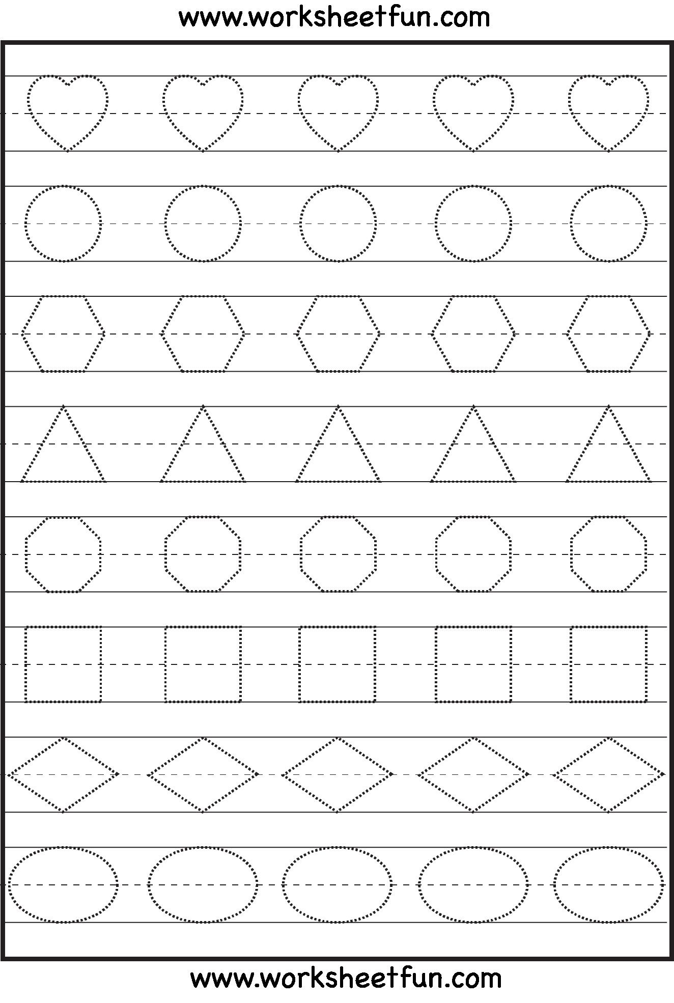 15 Sqares Printable Shapes Preschool Worksheets Coloring