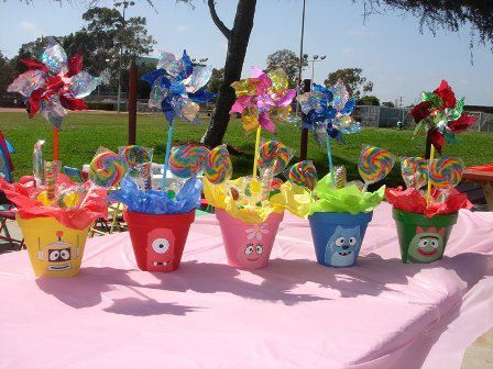 Kids Party Favors Doubles As Table Centerpieces Birthday Party