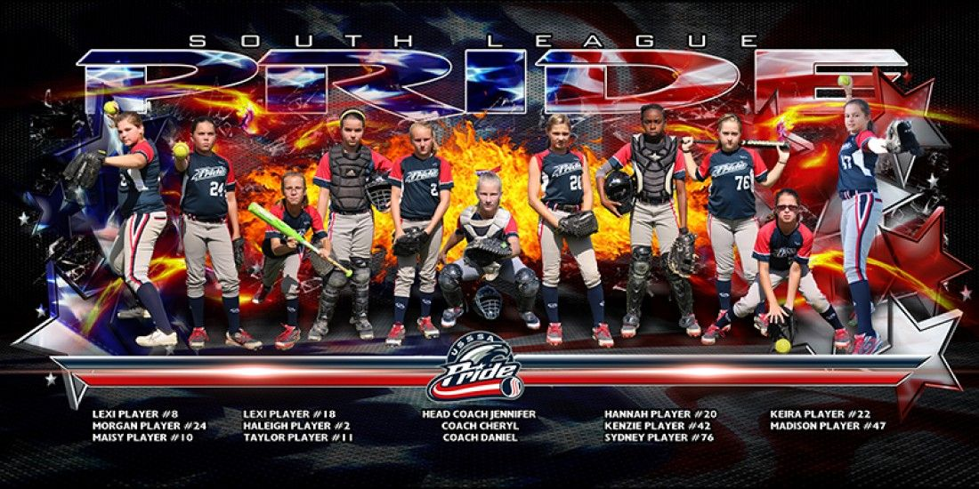 4 x8 patriot game day team banner template sports photography