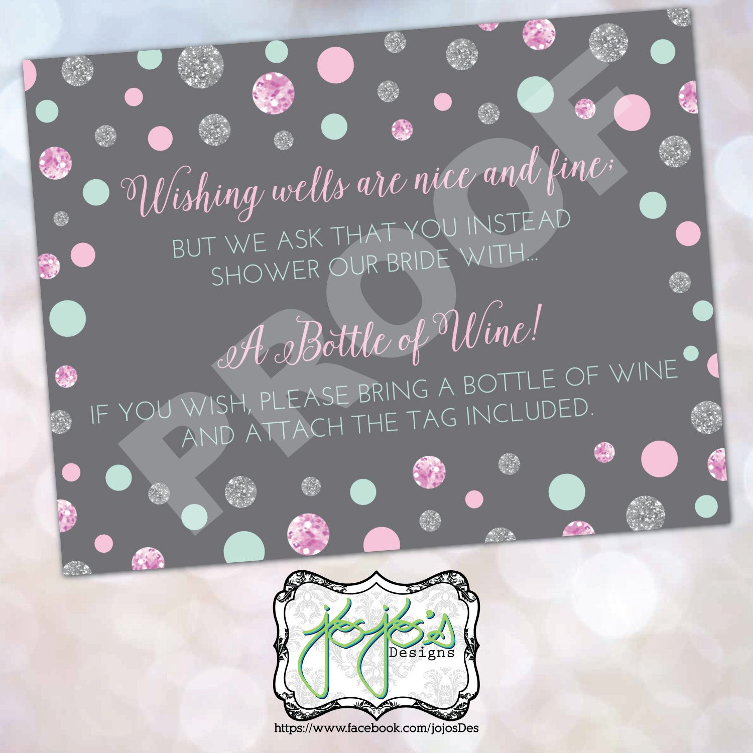 Best Bubbles Bliss Bridal Shower Insert Blush Pink And Mint 400 x 300