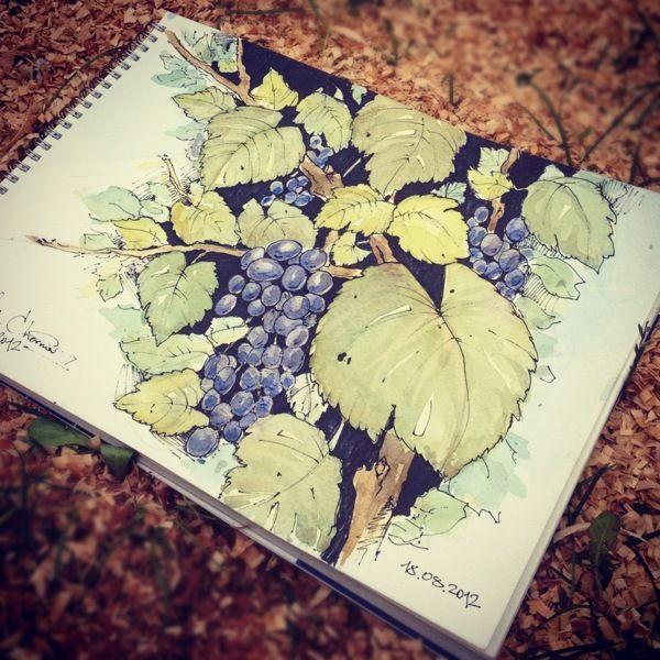Watercolor 2012 by Michael Chernov, via Behance