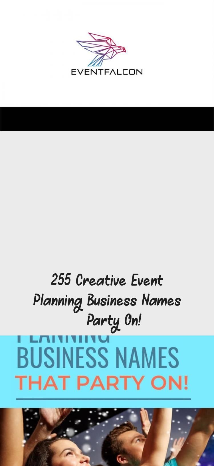 255 Creative Event Planning Business Names Party On