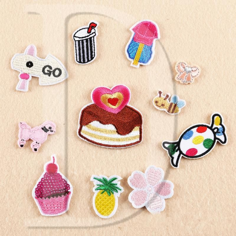 [Visit to Buy] Special offer,1 PCS ice cream cake parches Embroidered Iron on Patches for Clothing DIY Stripes Clothes Lollipop Stickers Badges #Advertisement